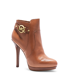 Wyatt Logo Leather Ankle Boot