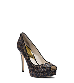 York Cheetah-Print Platform Pump