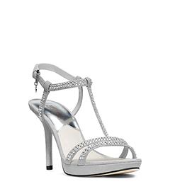 Yvonne Pavé-Embellished Suede Sandal