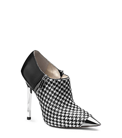 Zady Houndstooth Hair Calf and Leather Ankle Boot