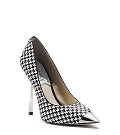 Zady Houndstooth Hair Calf Pump
