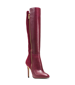 Clara Leather And Suede Boot By Michael Kors