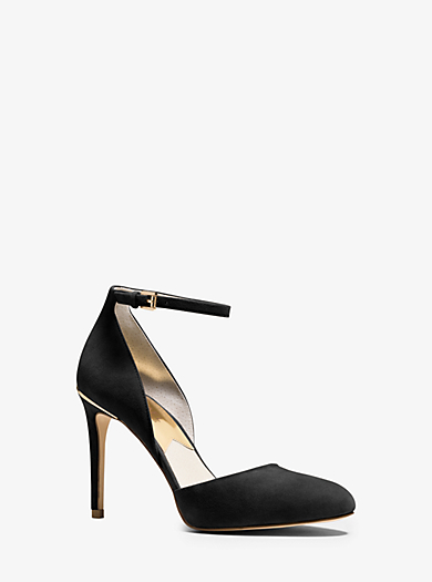 Georgia Suede Ankle-Strap Pump by Michael Kors