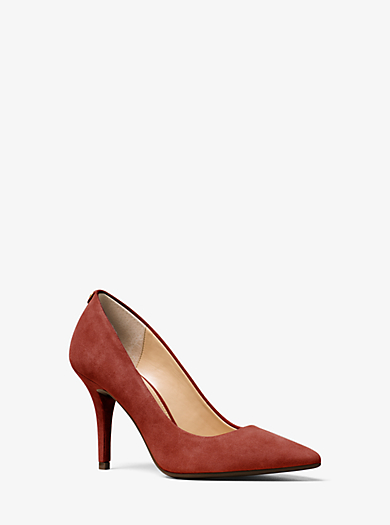 Flex Suede High-Heel Pump by Michael Kors