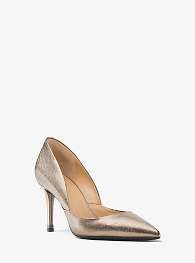 Pump Ashby aus Leder mit Metallic-Finish by Michael Kors