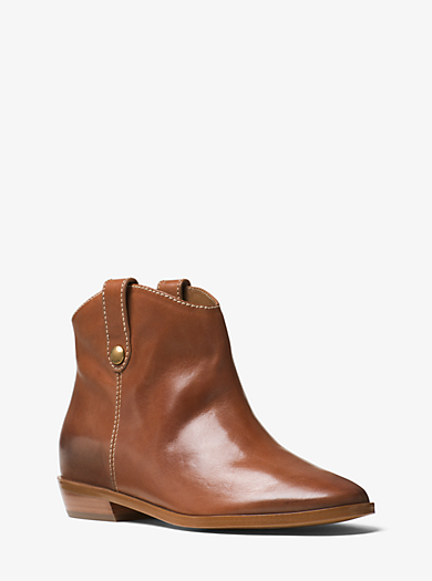 Ashton Leather Ankle Boot by Michael Kors