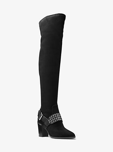 Overknee-Stiefel Brody aus Wildleder by Michael Kors
