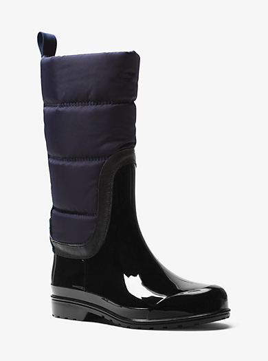 Cabot Quilted-Nylon Rain Boot by Michael Kors
