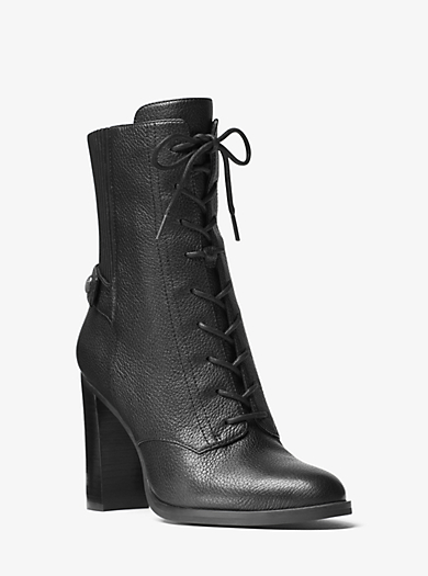 Carrigan Lace-Up Leather Ankle Boot by Michael Kors