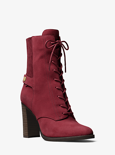 Carrigan Lace-Up Suede Ankle Boot by Michael Kors