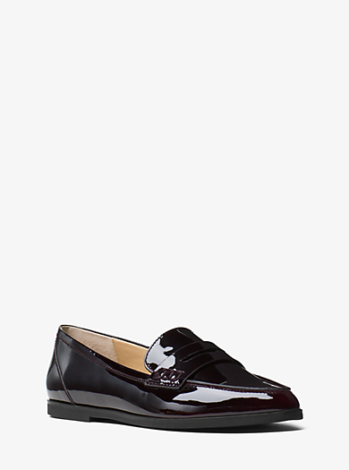 Connor Patent-Leather Penny Loafer by Michael Kors