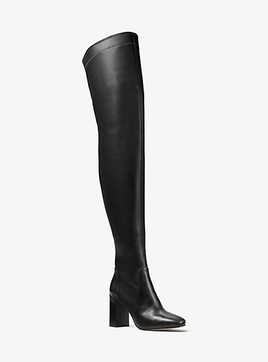 Chase Over-The-Knee Leather Boot by Michael Kors