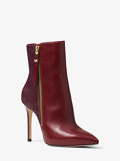Dawson Leather and Calf Hair Boot by Michael Kors