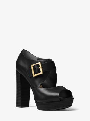 Eleni Leather Platform Sandal by Michael Kors