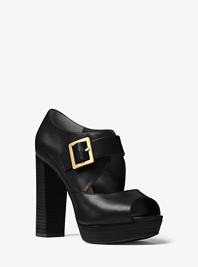 Eleni Leather Platform Sandal by Michael Kors