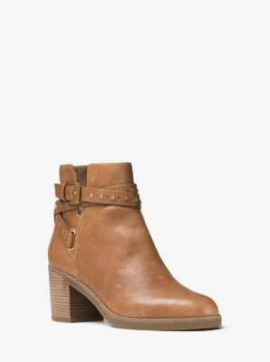 Fawn Leather Ankle Boot by Michael Kors