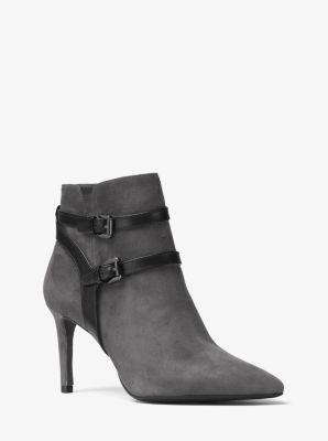Fawn Leather and Suede Ankle Boot by Michael Kors