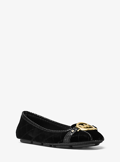 Fulton Quilted-Suede Moccasin by Michael Kors