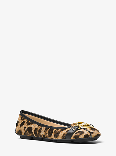 Fulton Leopard-Print Calf Hair Moccasin by Michael Kors