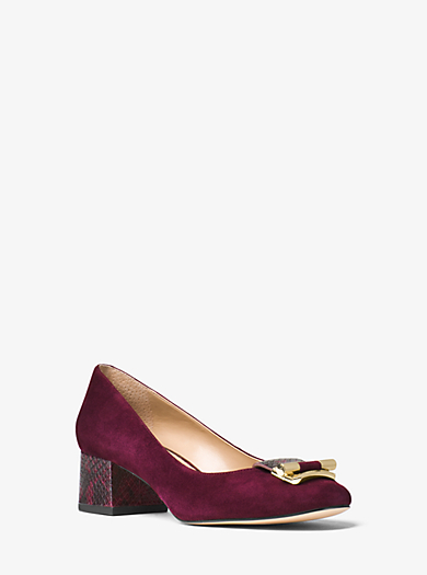 Gloria Suede Pump by Michael Kors