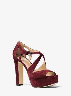 Harlan Suede Platform Sandal by Michael Kors