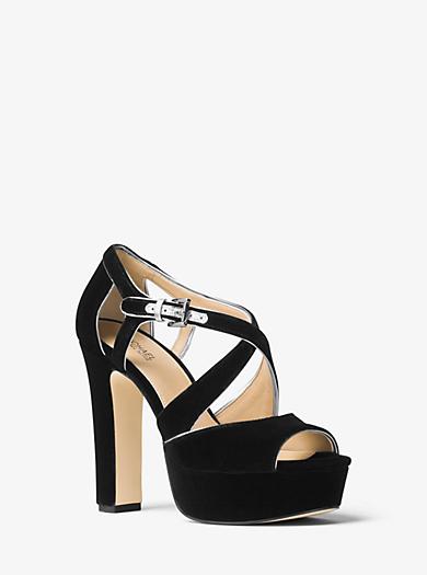 Harlan Velvet Platform Sandal by Michael Kors