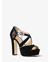 Harlan Velvet Platform Sandal