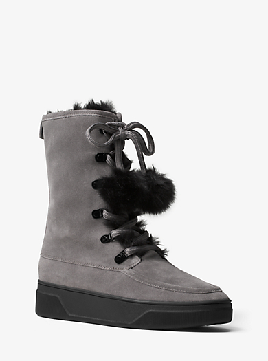 Juno Suede and Fur Boot by Michael Kors