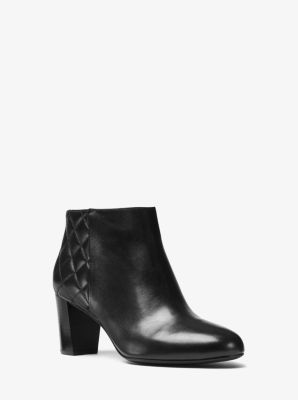 Lucy Quilted-Leather Ankle Boot by Michael Kors