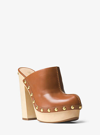 Liana Leather Clog by Michael Kors