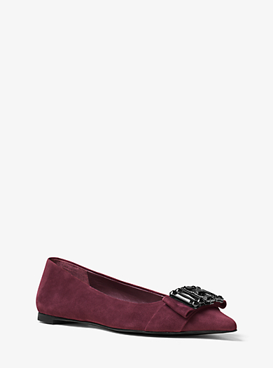Michelle Suede Flat by Michael Kors