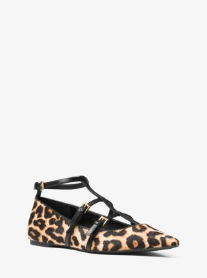 Marta Hair Calf Flat  by Michael Kors