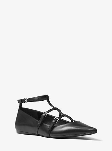 Marta Leather Flat by Michael Kors