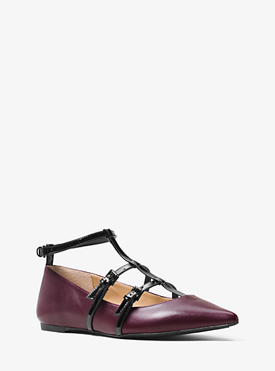 Marta Two-Tone Leather Flat by Michael Kors
