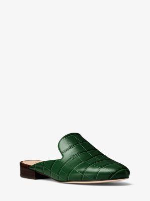 Natasha Embossed-Leather Slide by Michael Kors