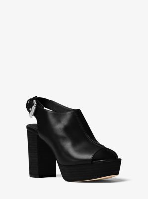Piper Leather Platform Sling-Back by Michael Kors