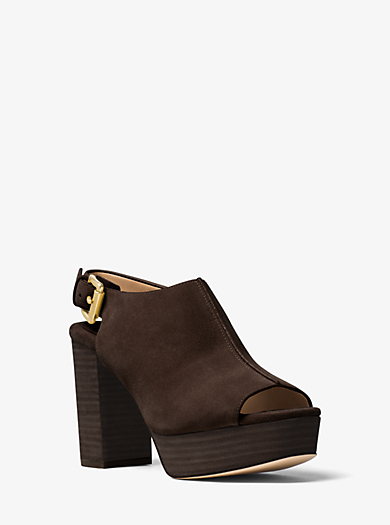 Piper Suede Platform Sling-Back by Michael Kors