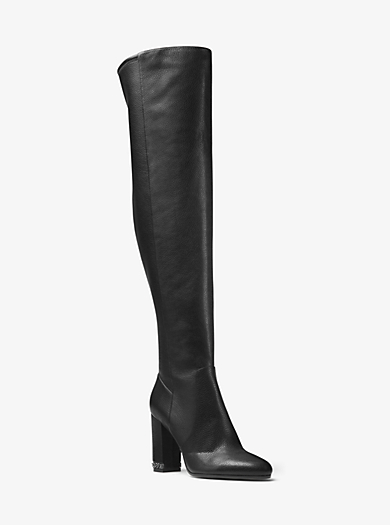 Sabrina Leather Over-the-Knee Boot by Michael Kors