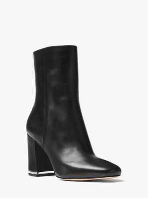 Ursula Leather Ankle Boot by Michael Kors