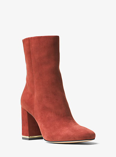 Ursula Suede Ankle Boot by Michael Kors