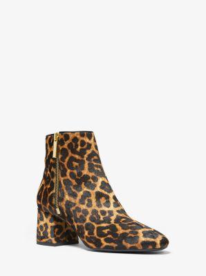 마이클 마이클 코어스 Michael Michael Kors Alane Leopard Calf Hair Ankle Boot,BUTTERSCOTCH