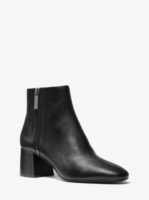마이클 마이클 코어스 Michael Michael Kors Alane Pebbled Leather Ankle Boot,BLACK