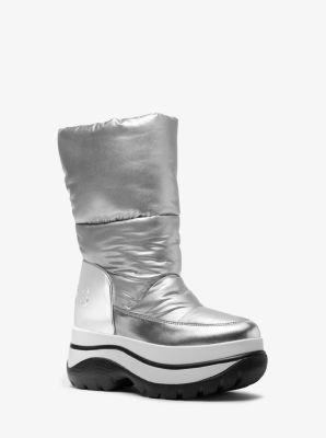 마이클 마이클 코어스 Michael Michael Kors Gamma Metallic Platform Boot,SILVER