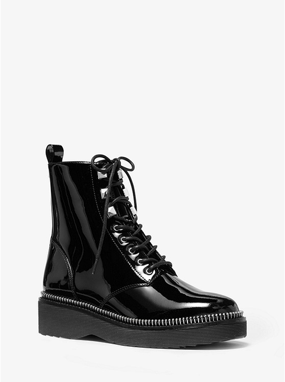 Haskell Patent Leather Combat Boot  | Michael Kors