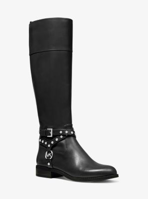 마이클 마이클 코어스 Michael Michael Kors Preston Studded Leather Boot,BLACK
