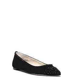 Arabella Suede Pointed-Toe Flat