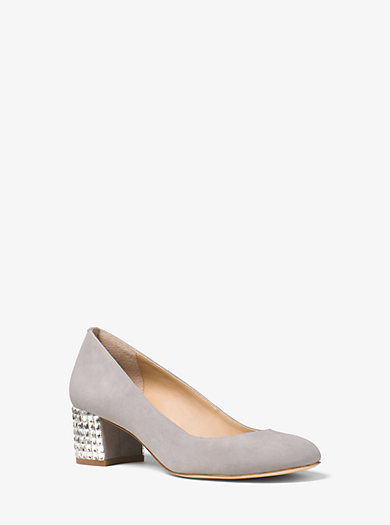 Arabella Embellished Suede Pump by Michael Kors