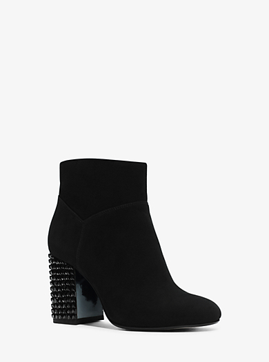 Arabella Embellished Suede Ankle Boot  by Michael Kors