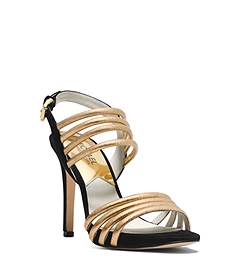 Cameron Python Pattern-Embossed Leather Sandal