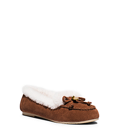 Cori Suede and Shearling Moccasin